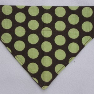 Brown with Lime Dots